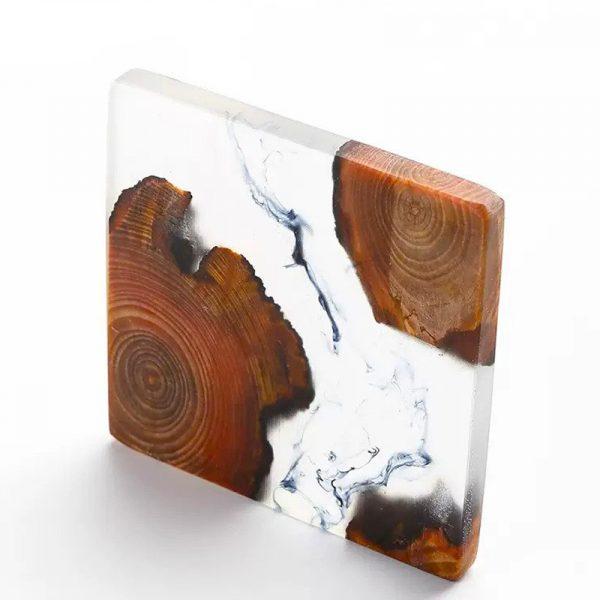 茶道松木樹脂杯墊